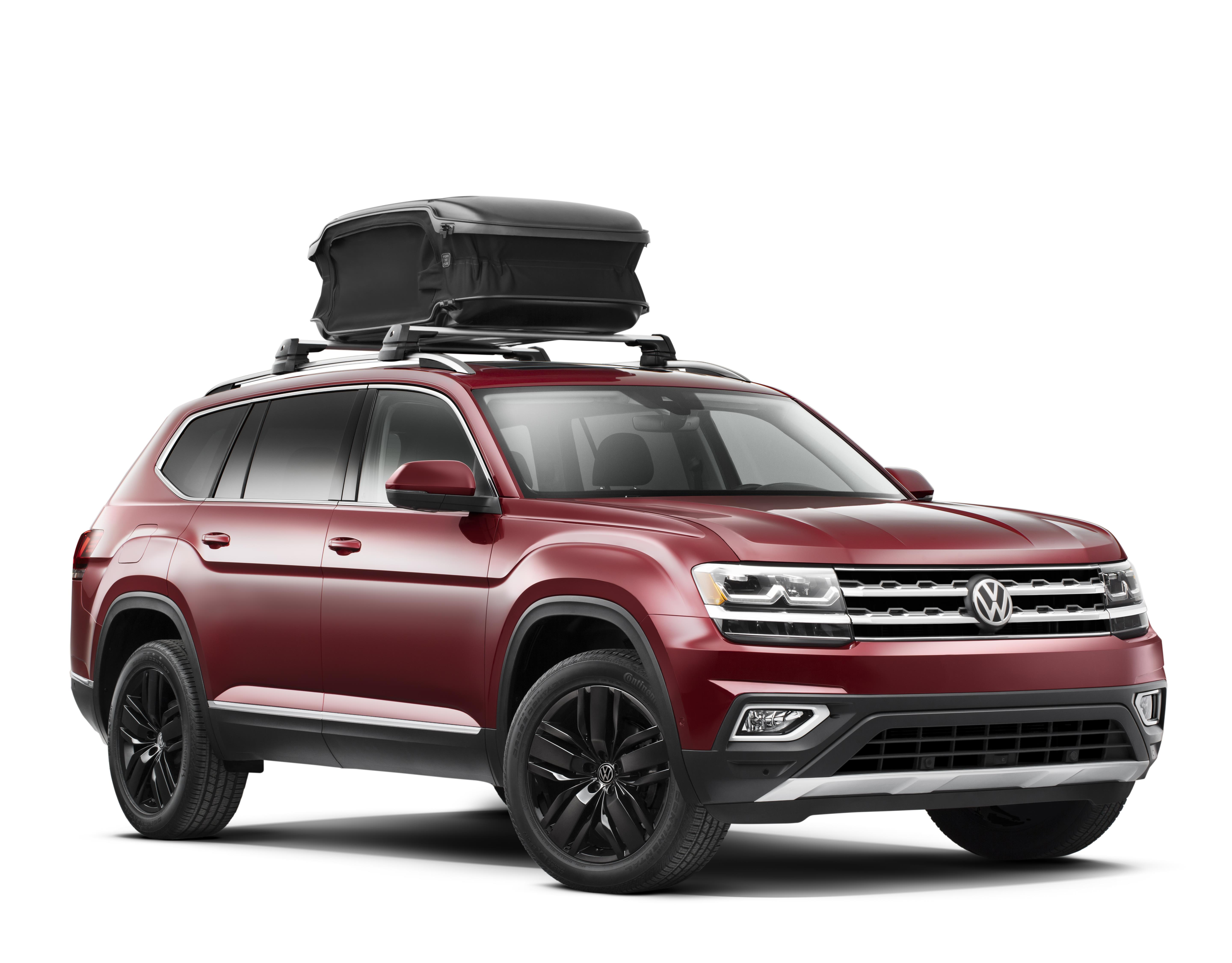 Diagram Base Carrier Bars and URBAN LOADER® Attachment for your 2021 Volkswagen Atlas